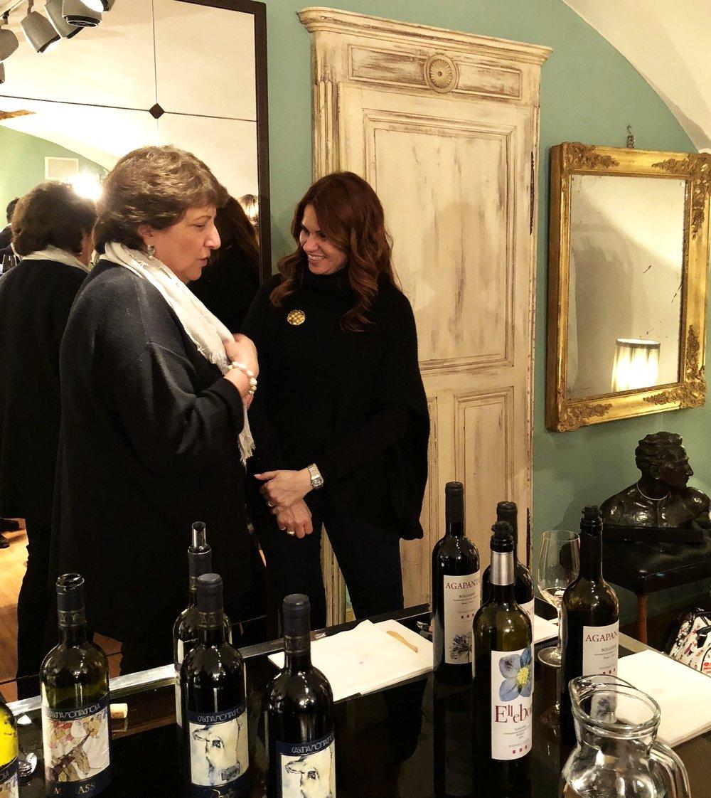 Donatella Giannotti, Cascina Montagnola (Piemonte) & Manuela Gastel, Podere Conca (Bolgheri, Toscana).