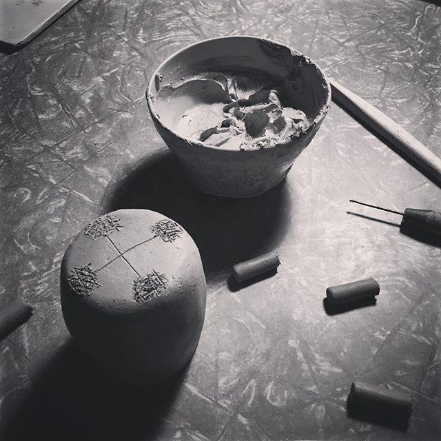 Saturday night.  #luckyanna #ceramics #handmade #pottery