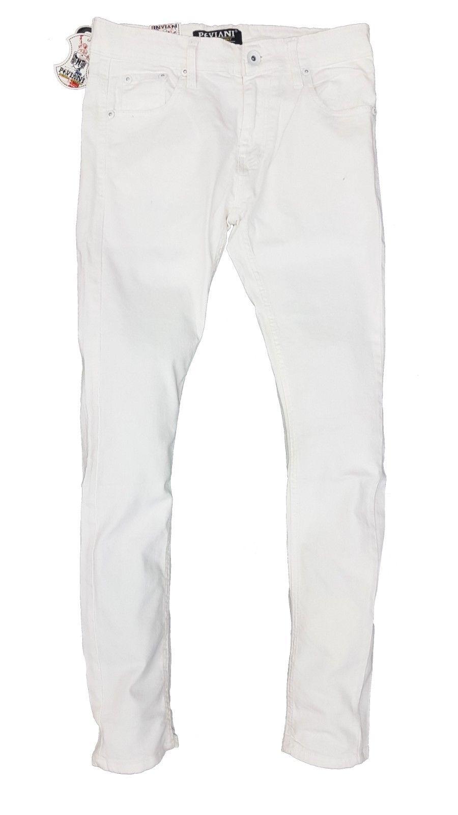 14f61ea7 White Peviani Skinny Stretch Slim Fit Denim — GEORGIO PEVIANI