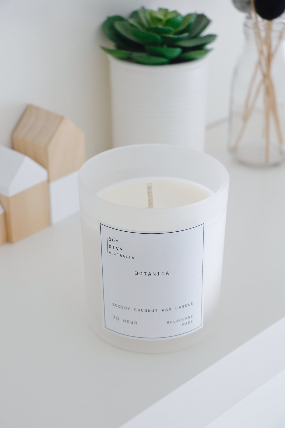candles - our handmade ecosoy coconut wax candles are available in two sizes 55HR and 70HR, with ten fragrances to choose from.