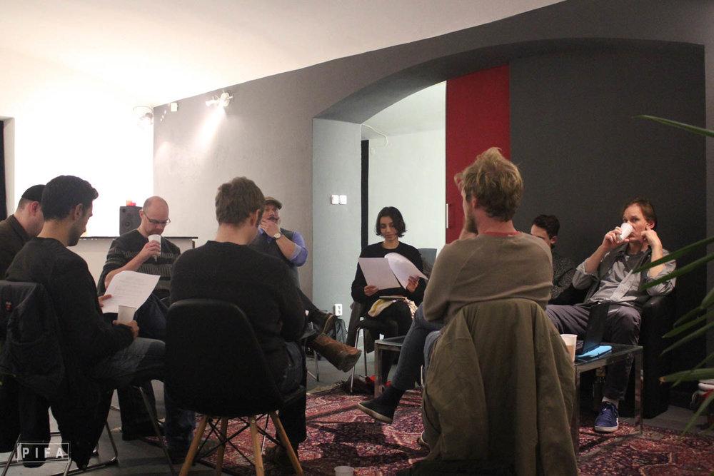 PIFA School script writers meeting