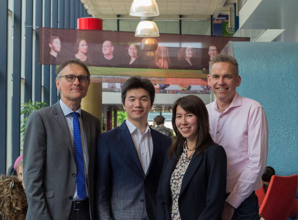 Dirk Pieter van Donk, Chengyong Xiao, Miriam Wilhelm, Taco van der Vaart. Photo:Ms. Nienke van den Berg