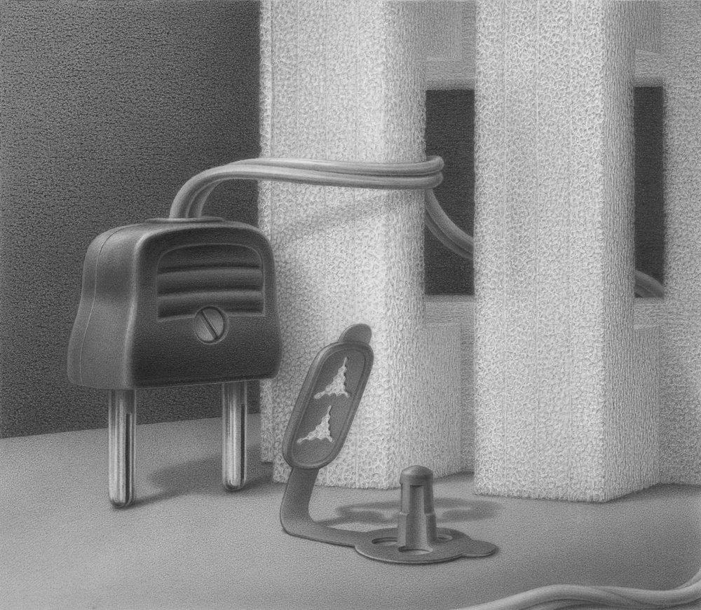 La demi-déesse, 2017, pencil on paper, 14 x 16 cm