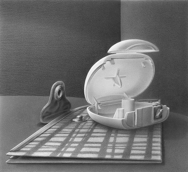 Le Petit Lever, 2015, pencil on paper, 16 x 18 cm