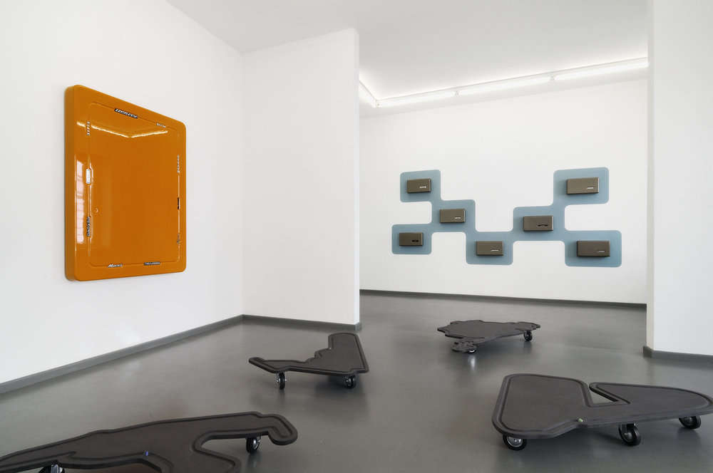 Ausstellungsansicht: stop and go, 2017, Rasche Ripken, Berlin