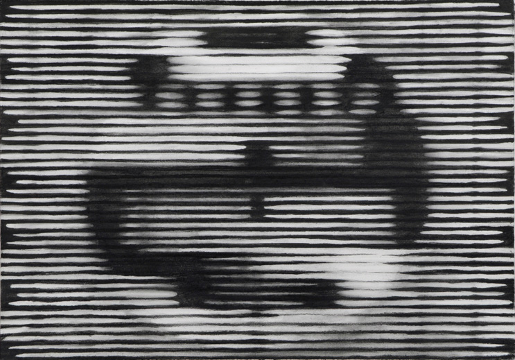 Testbeeld, 2008, Kohle auf Papier, 53,5 x 76,5 cm