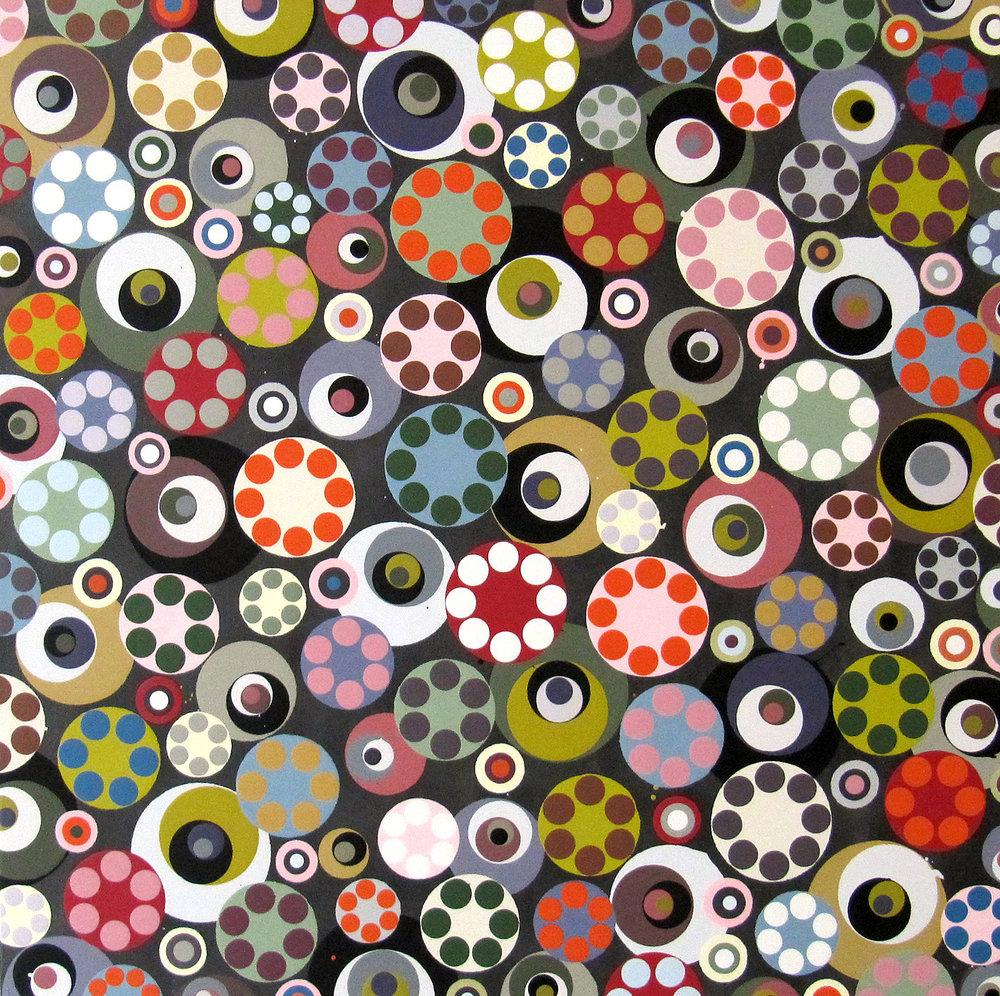 o.T., 2012, Acryl auf Holz, 50 x 50 cm