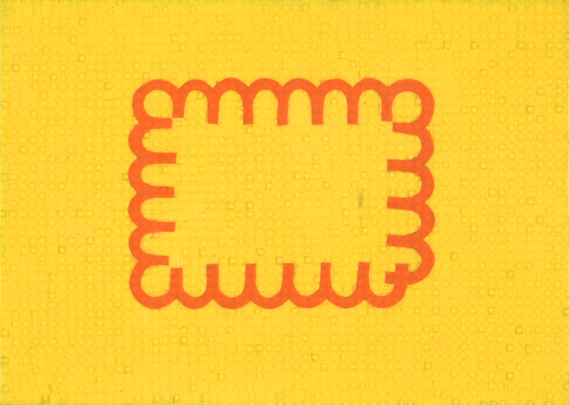 PE (Keks), 2012, Polyethylen-Intarsie, 21 x 29 cm
