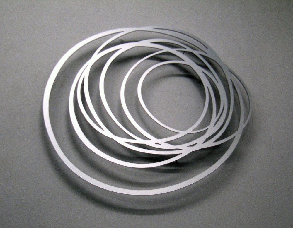 Tangle, 2011, aluminium laser cut-out, Ø 100 cm, edition 5+1