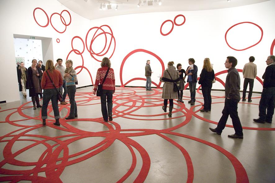 multiversum, 2010, carpet cut-out, 1000 x 1200 x 1000 cm, Museum Marta, Herford