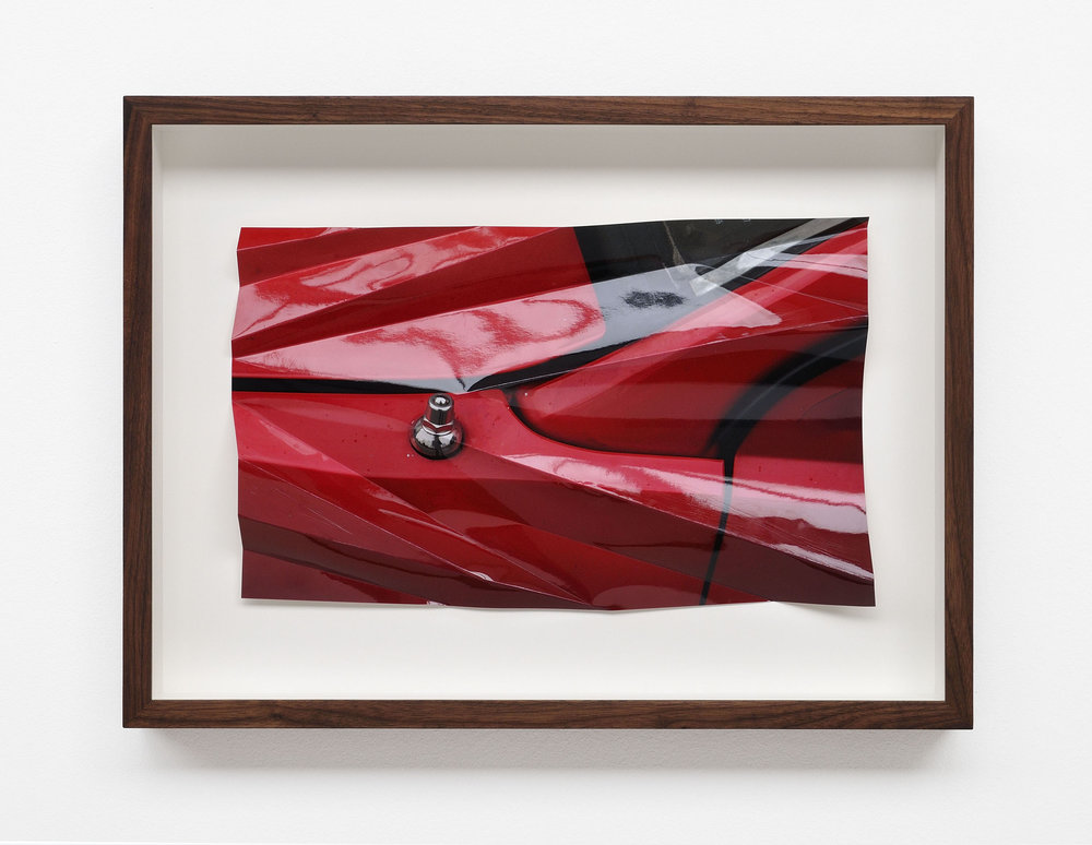 from the series: Red Crash, 2017, color photography, folded, 30 x 44 cm