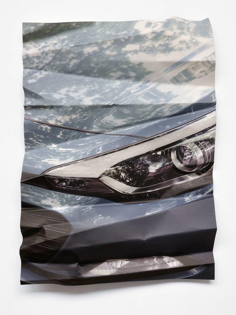 Silver Crash, 2018, UV-Print auf Aluminium, 134 x 101 cm