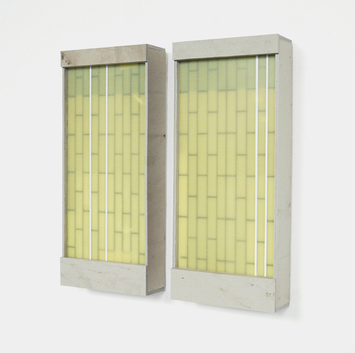 Verband II, 2017, cardboard, GFK, 37 x 16 x 5 cm