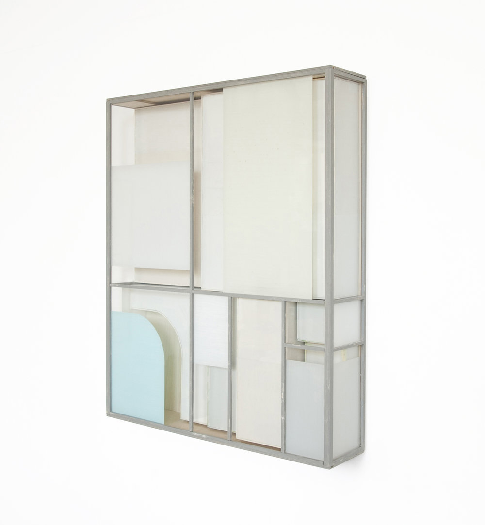 Minimal BL, 2018, wood, acrylic glass, paint, 81 x 67 x 14 cm