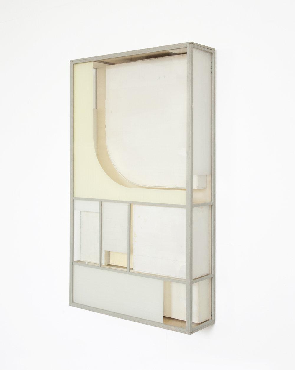 Minimal FM 2, 2018, wood, acrylic glass, paint, 81 x 47 x 13 cm