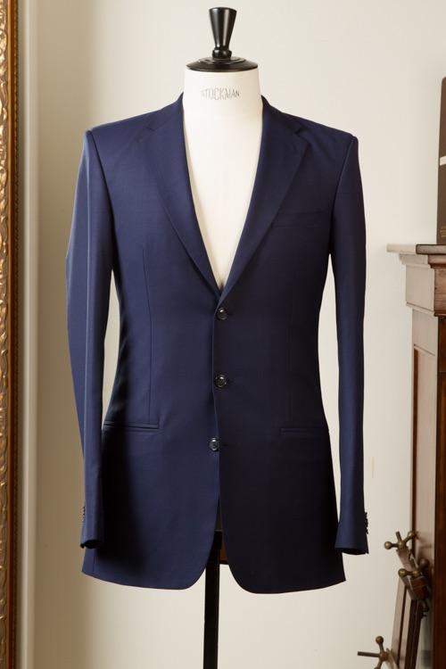 - 3 knoops donker indigo blauw pak kostuum heren klassiek