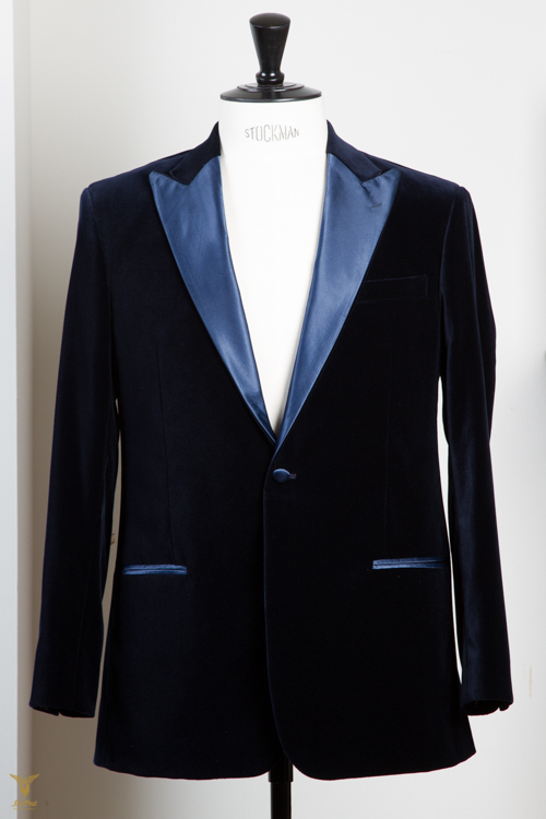 - Smoking Dinner Jacket Colbert Fluweel Donker Blauw