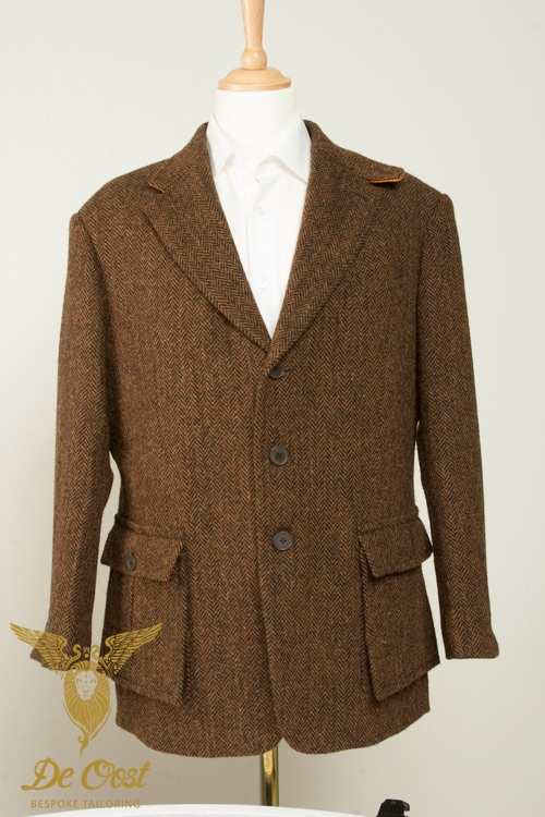 - Norfolk Jacket Colbert Harris Tweed Patch pockets