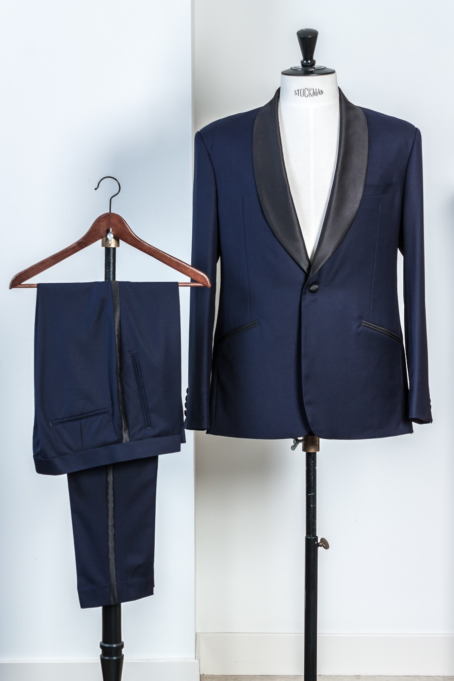 - Shawl Kraag smoking maatwerk donker blauw Tailored Midnight blue Tuxedo Fancy