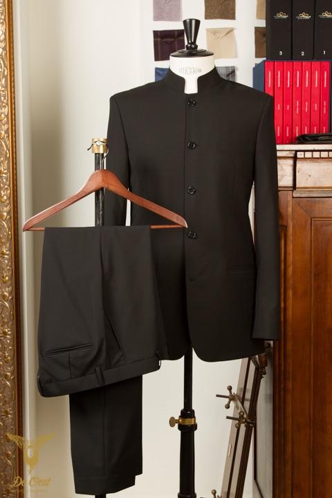 - Nehru Mao kraag pak kostuum 5 knoops musici orkest