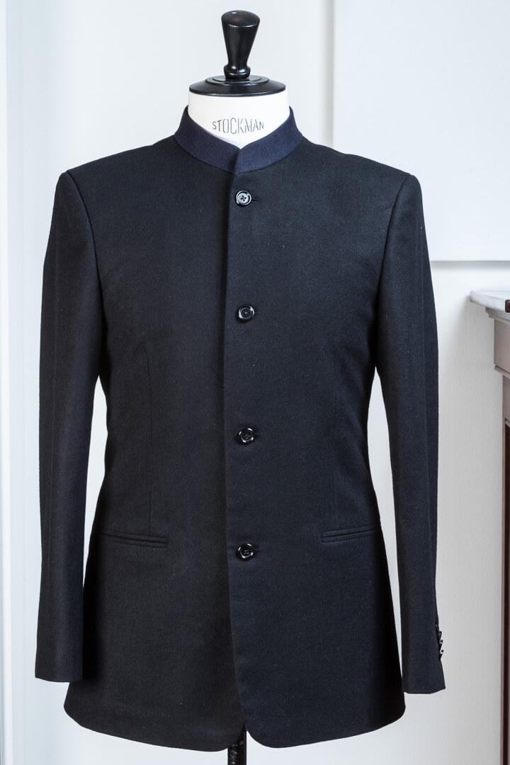 - nehru pak kostuum voor musici dirigenten orkesten flannel zwart