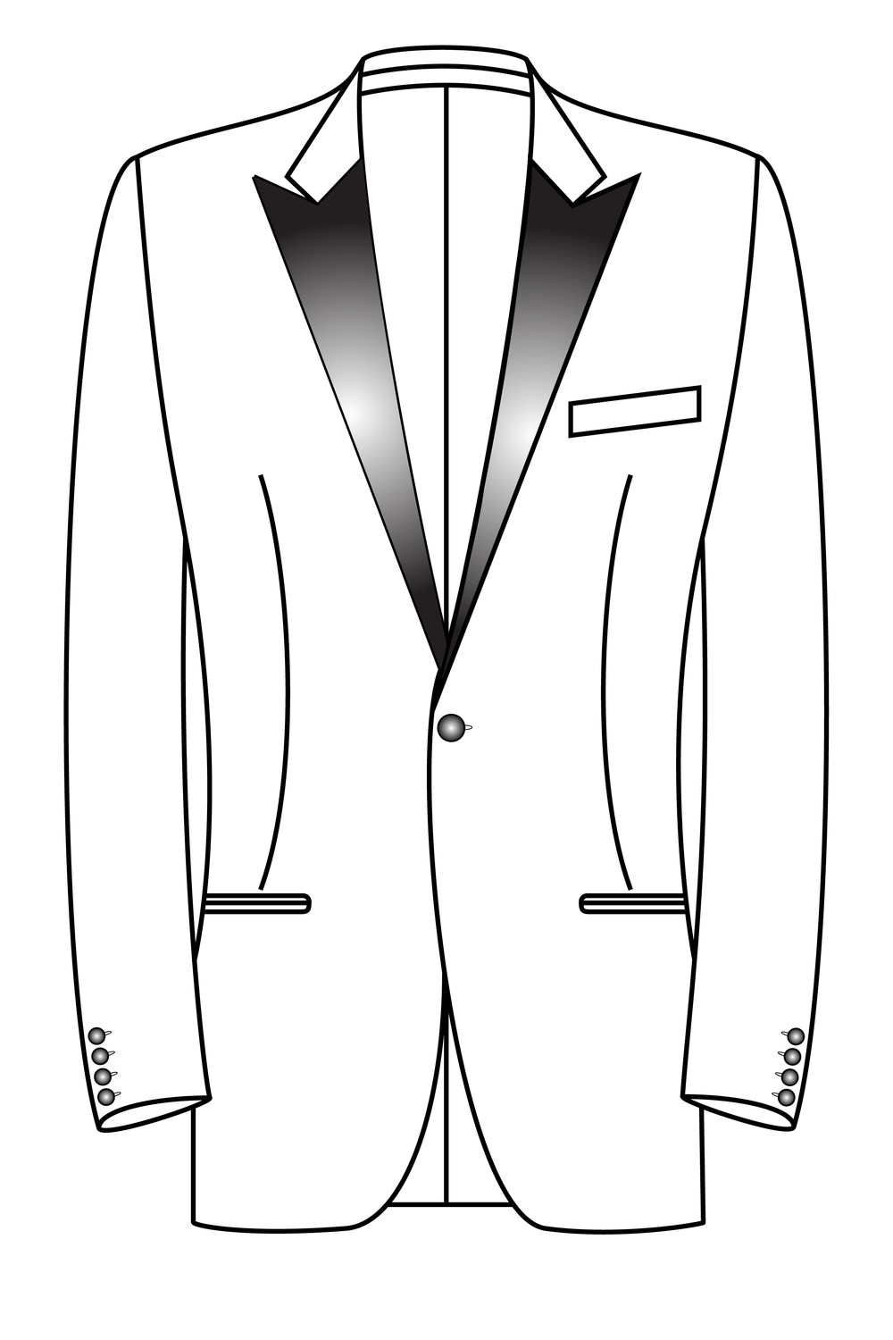 1 knoops peak lapel gepassepoileerde zakken smoking tuxedo dinner jacket.png