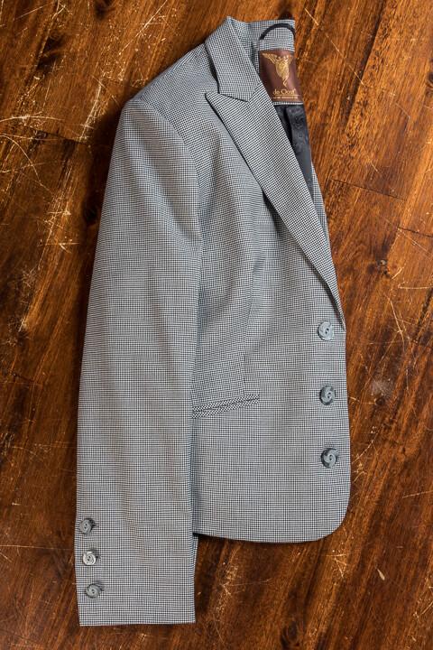 - Puppytooth Pied De Poule Dames Pak 2018 Kort Colbert Vest Pantalon
