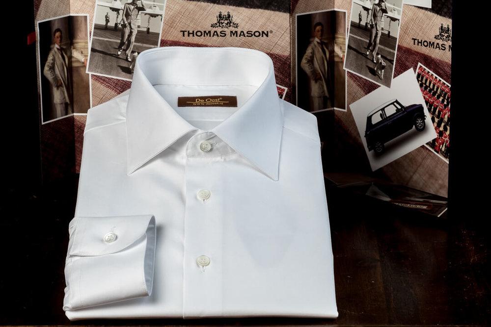Handgemaakt Overhemd Heren Bespoke Klassiek Wit Formeel Kantoor Werk Twill
