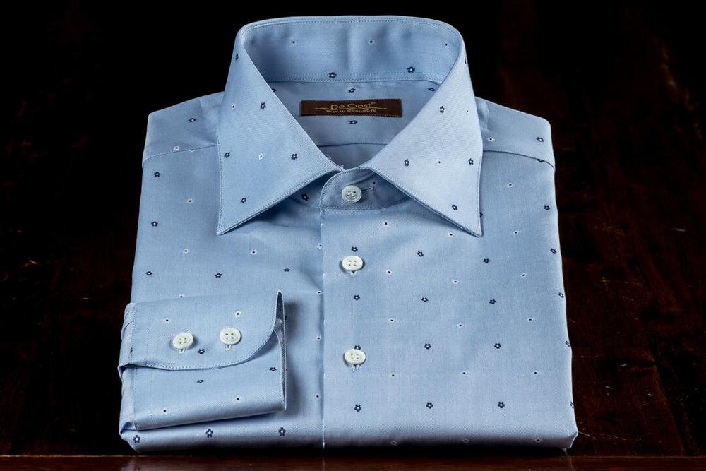 Op Maat Handgemaakt Zomer Overhemd Jacquard Thomas Mason Seasonal Collection
