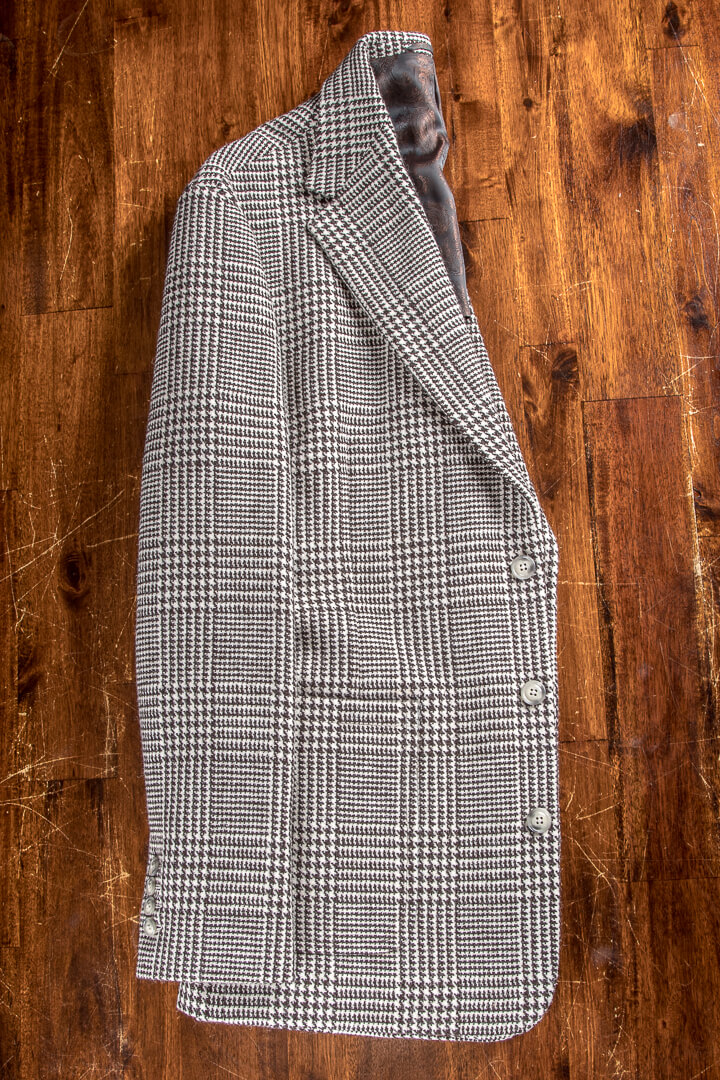 - Hand Geweven Harris Tweed Unlined Outer Hebrides 3 Knoops Jas Patch Pockets