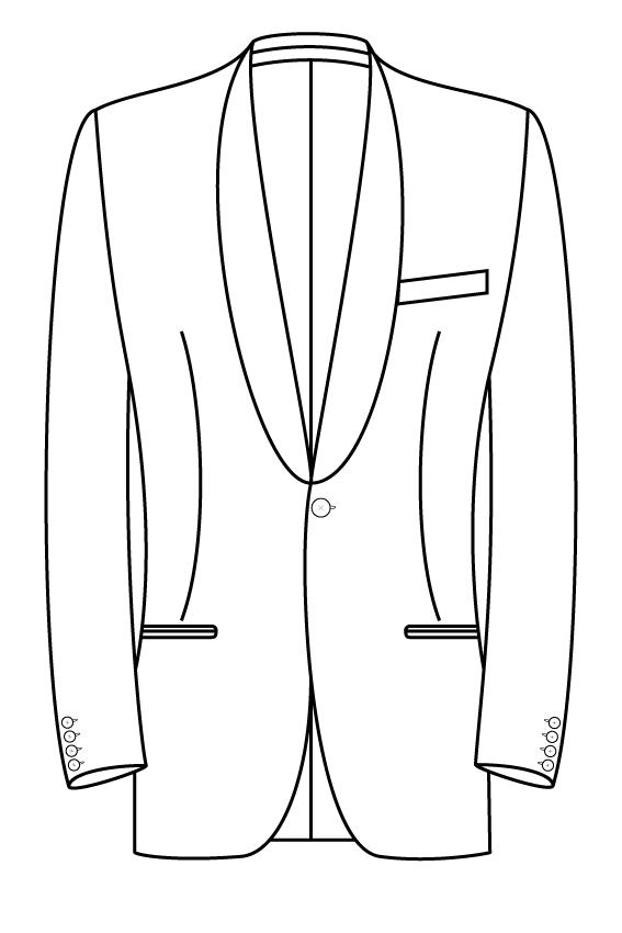 1 knoops sjaal kraag gepassepoileerde zakken pak jasje model kostuum colbert blazer.png