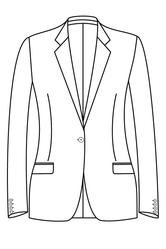1 knoops notch lapel rechte zakken dames jasje blazer colbert pak bespoke tailor made amsterdam.png
