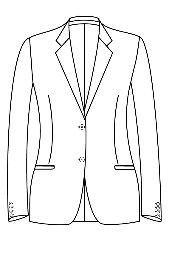 2 knoops notch lapel gepassepoileerde zakken dames jasje blazer colbert pak bespoke tailor made amsterdam.png