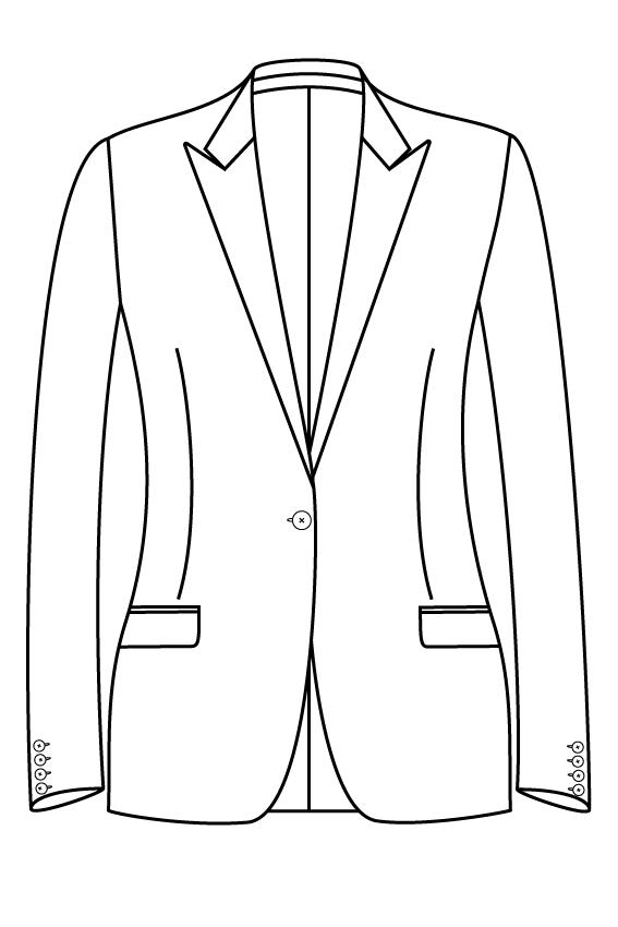 1 knoops peak lapel rechte zakken dames jasje blazer colbert pak bespoke tailor made amsterdam.png