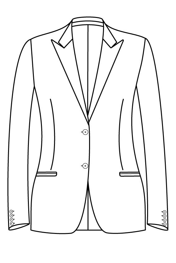2 knoops peak lapel gepassepoileerde zakken dames jasje blazer colbert pak bespoke tailor made amsterdam.png