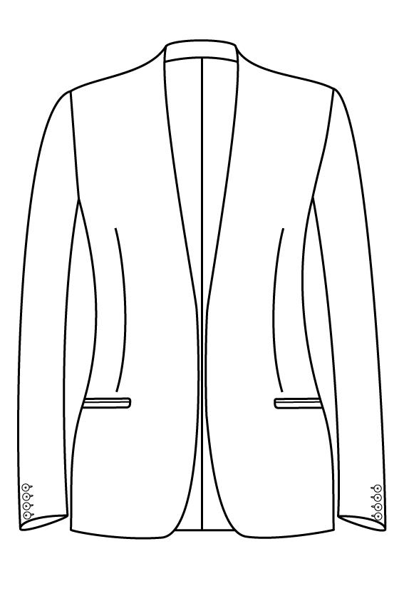 zonder sluiting kraagloos gepassepoileerde zakken dames jasje colbert pak bespoke tailor made amsterdam.png.png