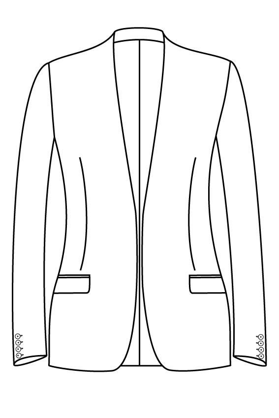 zonder sluiting kraagloos rechte zakken dames jasje colbert pak bespoke tailor made amsterdam.png.png