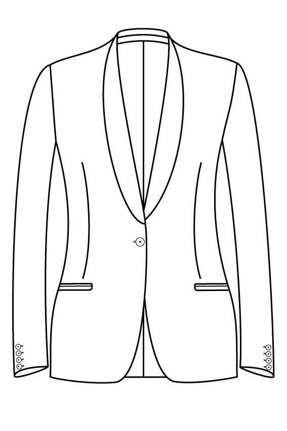 1 knoops sjaal kraag gepassepoileerde zakken dames jasje blazer pak colbert bespoke tailor made amsterdam.png