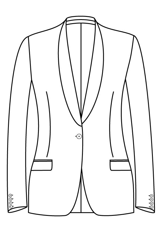 1 knoops sjaal kraag rechte zakken dames jasje blazer pak colbert bespoke tailor made amsterdam.png