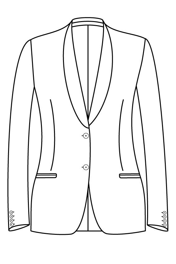 2 knoops sjaal kraag gepassepoileerde zakken dames jasje blazer pak colbert bespoke tailor made amsterdam.png