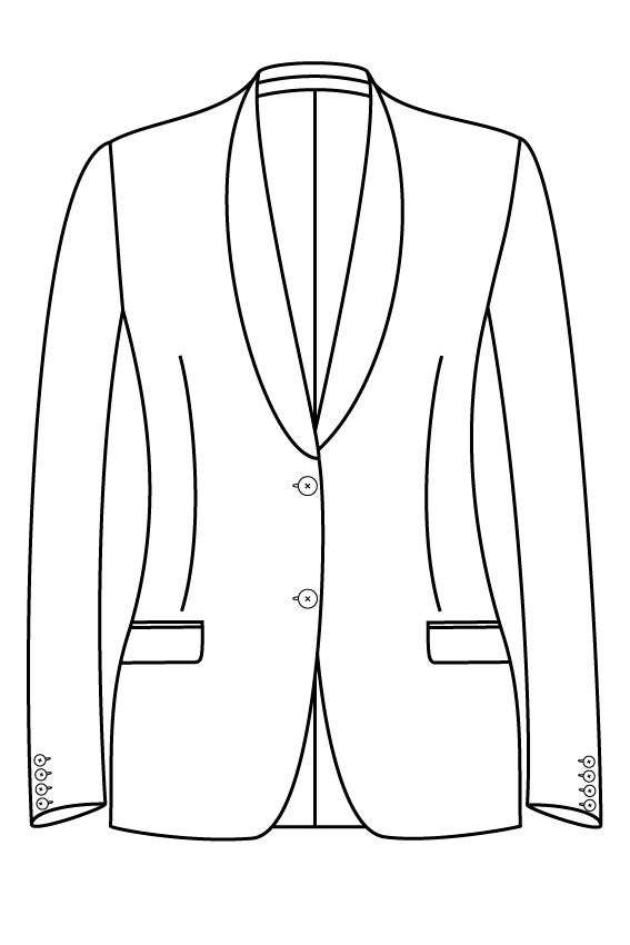 2 knoops sjaal kraag rechte zakken dames jasje blazer pak colbert bespoke tailor made amsterdam.png