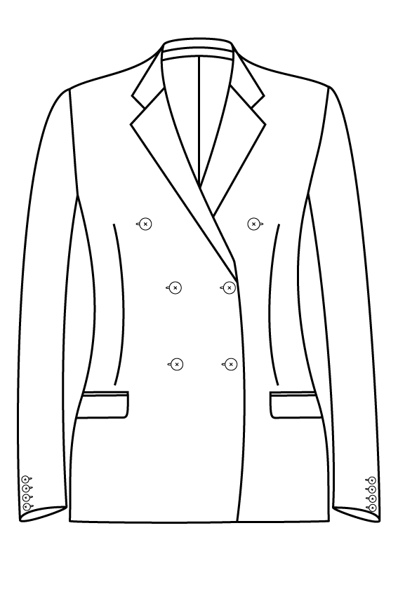 3x2 notch lapel rechte zakken dames jacket blazer suit bespoke tailor made amsterdam.png
