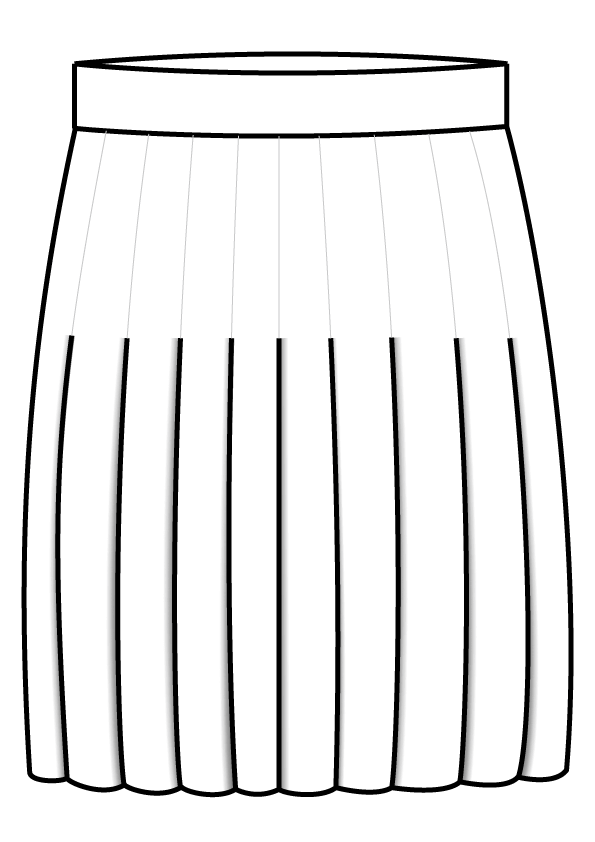 N16 Top Stitched Pleat dames rok pak bespoke tailor made amsterdam.png