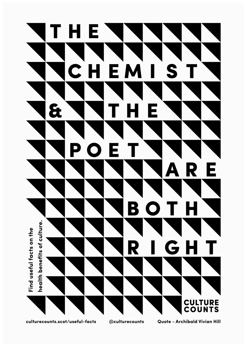 """Culture Counts Poster - """"The Chemist The Poet Are Both Right"""""""