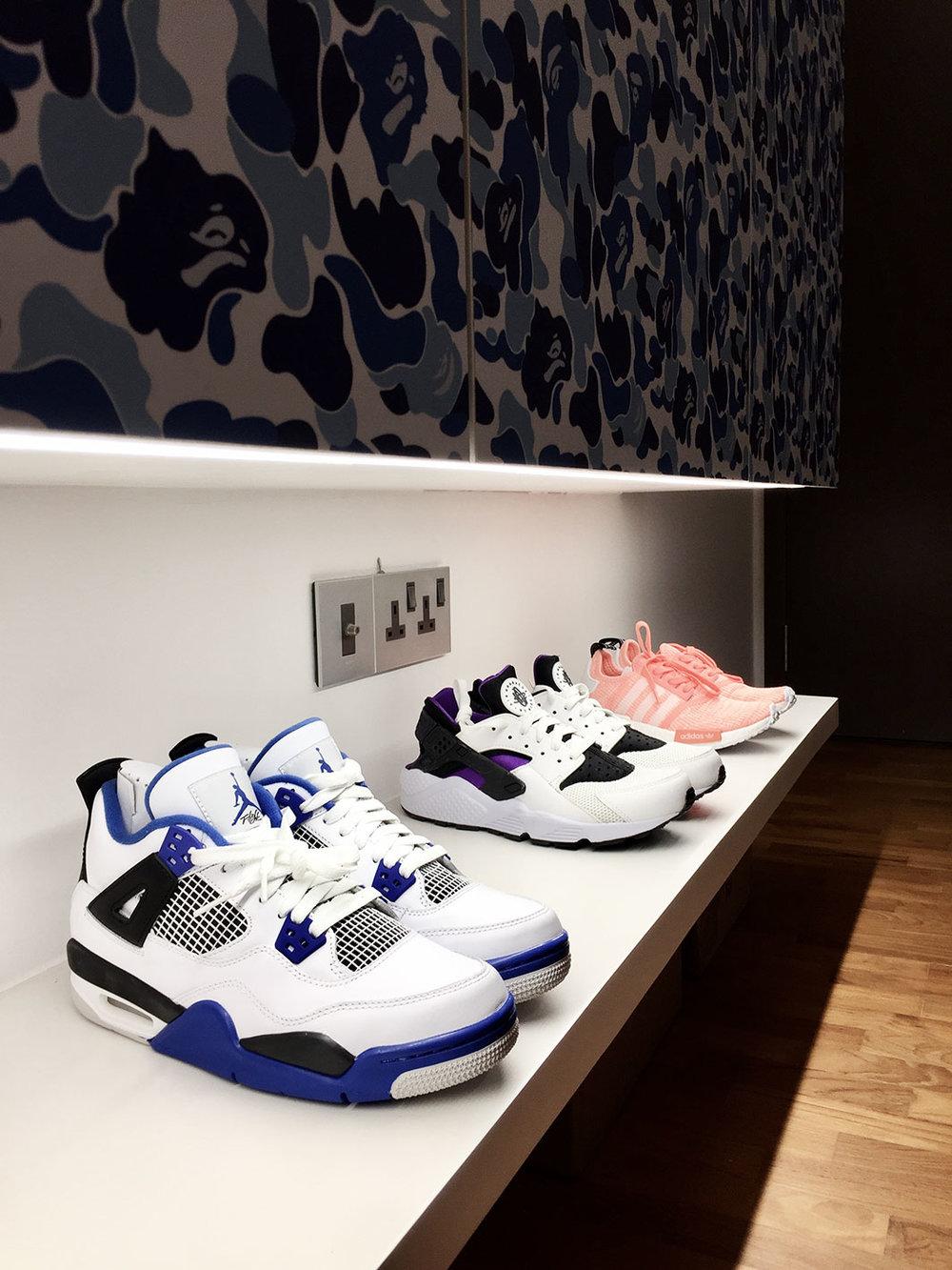 Shoe display.