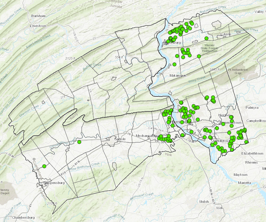 Mitigation Sites   interactive map application