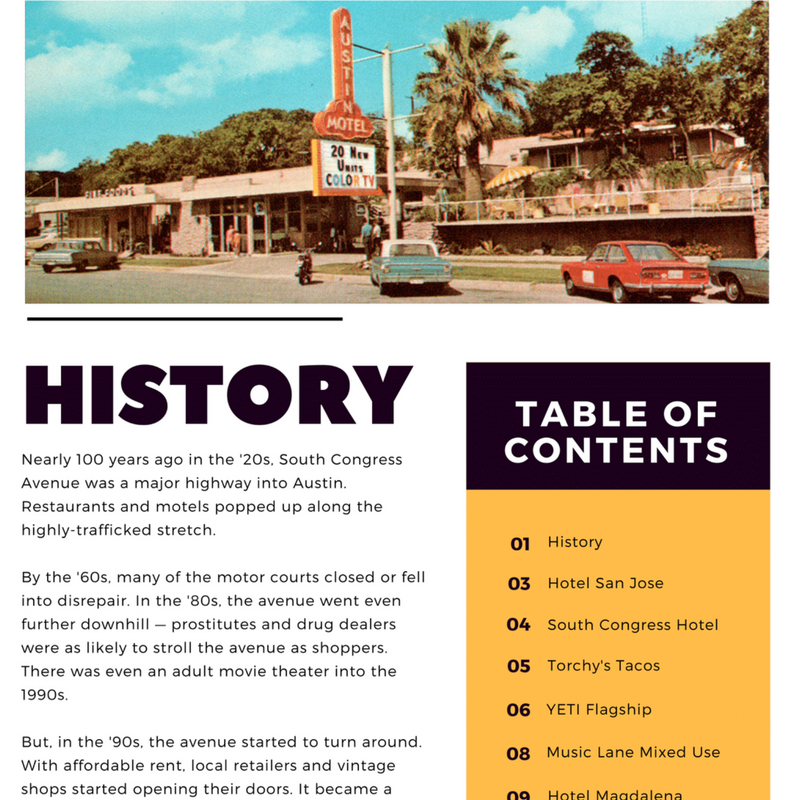 South Congress Then-Now Magazine