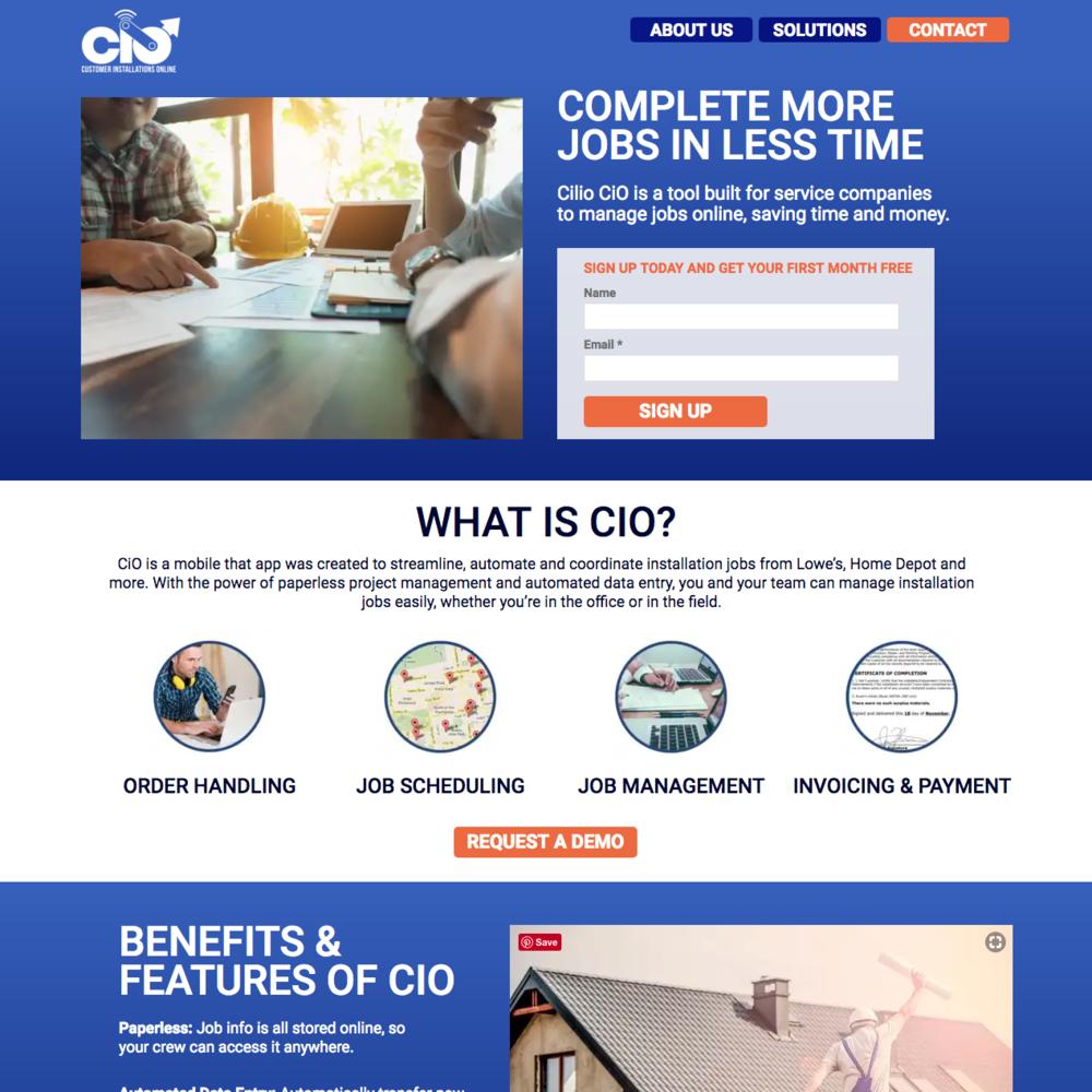 CiO Landing Page