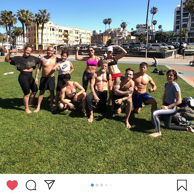 Just another Saturday morning of fun and sweat with a great crew. Thanks! @methodsofstrength #funrunbeachbanger
