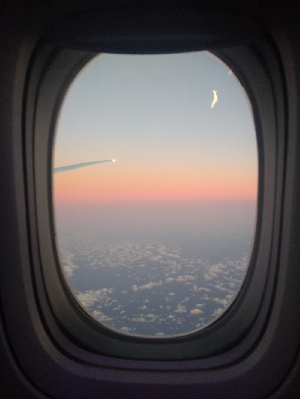 The sunrise towards the end of our Australia flight.